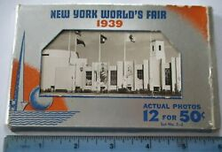 12 1939 Rppcs New York Worlds Fair Real Photo Post Cards Nyc Official Souvenirs