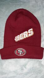 Vintage Nfl Pro Line San Francisco 49ers Winter Hat Beanie Red Gold 90s Cool