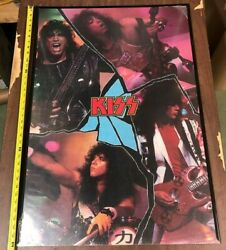 Vintage Music Poster Kiss 1988 Band Members Without Makeup Rolled 25x36