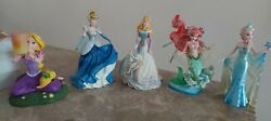 Disney Princesses Collectable Statues 5 Dolls