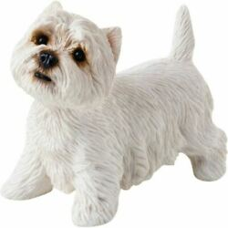 HAND PAINTED Sandicast Standing West Highland White Terrier Dog Sculpture