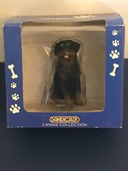 Hand Painted Sandicast Rotweiller Figurine Dog Statue Figure New In Box