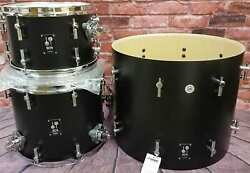 Sonor Sq1 Black 20x16/12x8/14x13 Jazz Bop Kit Drums Shell Pack +bags Auth Dealer