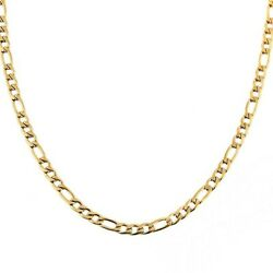 10K Solid Yellow Gold Figaro Chain Link Pendant Necklace 16quot; 18quot; 20quot; 22quot; 24quot; 30quot; $99.99