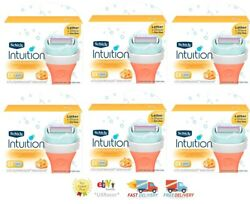 36 Schick Intuition Razor Blades 4 Women Lather And Shave Refill Cartridges 6 3