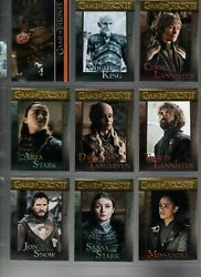 Game Of Thrones Season Eight 8 Complete Gold Foil Parallel Base Set And P1