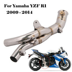 Yzf R1 2009-14 Mid Link Pipe Replace Of Catalyst Cat For Original Exhaust Yamaha
