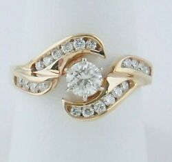 Wr28 A21 14 Kt Yellow Gold Approx 1 Ct Diamond Ring