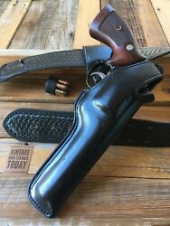 Alfonsoand039s Black Leather Lined Police Duty Swivel Holster For K Frame Revolver 6
