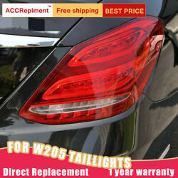 For Benz C-class W205 Led Taillights Assembly Red Led Rear Lamps 2014-2020