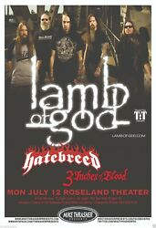 Lamb Of God Music Concert Mini Poster 2 Sizes To Pick From, Reprint Photo