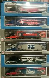 Mlb/ Nfl Press Pass Inc. 180 Scale Die Cast Tractor Trailer Choose Your Team