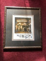 The Allman Brothers Band Autographed Photo W/ Custom Picture Frame