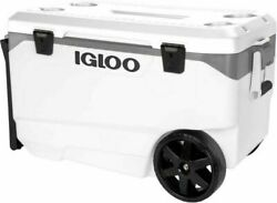 Igloo Latitude 90 Quart Rolling Cooler Hybrid Latches Durable Large Heavy Duty $125.37