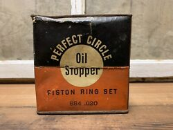 Vintage Perfect Circle Company Piston Rings New In Box Old Gas Oil Auto Parts