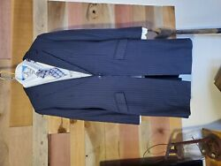 Becker Brothers Ladies Navy Saddleseat Suit With Vest, Shirt And Tie