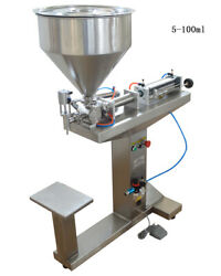 110v 10-100ml Liquid/pasty Fluid Filling Machine With Stand Stainless Steel