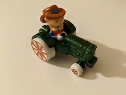 Looney Tunes Porky Pig Character Green Farm Tractor Ertl Toy 2702 Die Cast 1988