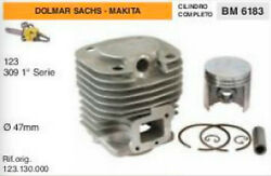 123.130.000 Cylinder And Piston Chainsaw Dolmar Sachs Makita 123 309 Ø 1 27/32in