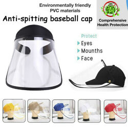 US Protective Epidemic Anti-saliva Dust-proof Hat Safety Protection Tool
