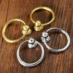 2x O-ring Drop Drawer Cabinet Bookcase Door Pull Handle With Screws Silver Gold