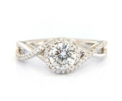 New Gabriel And Co. Oval Shape Halo Diamond Infinity Semi Mount Ring In 14k