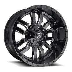 Fuel Sledge D595 Rim 22x9.5 8x180 Offset 20 Gloss Black And Milled Quantity Of 4