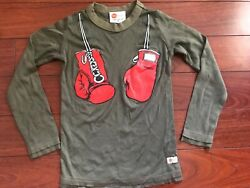 NEW Kids Hip Bubs Boxer Box Boxing Top Shirt 100% Soft Cotton Unisex USA Made