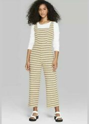 Wild Fable Womens Strappy Square Neck Striped Knit Jumpsuit Size Xl