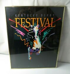Rare Large Vintage Pop Art Deco Poster Pegasus Kentucky Derby 1991 By Jeff Tull