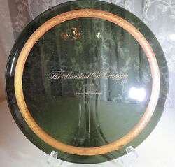 Vintage Smoked Glass Gold Edge Plate Tray The Standard Oil Company 1870-1970