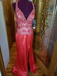NWT RIVA DESIGNS  Red Prom Pageant Gala Cruise gown Size 14 $48.00