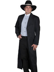 Scully Wahmaker Mens Black Polyester Big And Tall Rifle Frock Coat