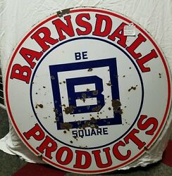 Original Barnsdall Products Sign Gas And Oil Porcelain Sign