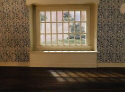Aceo Cyclorama Window Background Acrylic On Board By Robert Riddle Baker