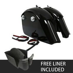 Gloss Black Saddlebag Electronic Latch For Indian Roadmaster 2015-2018 Chieftain