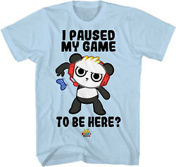 Combo Panda I Paused My Game to Be Here Boy Light Blue Youth T Shirt