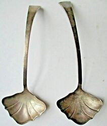 Small Shell Design Sterling Silver Matching Ladles No Monograms Art Nouveau