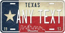 Texas Houston License Plate Novelty Personalized for Auto ATV Bike Motorcycle $14.99