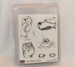 Stampinand039 Up Cold Weather Friends Polar Bear Penguin Fox Seal/pup Rubber Stamps