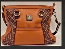 Jose Hess Brown Leather Designer Hand Bag Perfect Gift - Perfect Inscription! $65.00