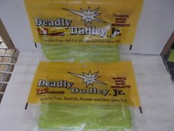 2 Pks Of Deadly Dudley Jr. Terror Tail 3.5 Soft Fishing Lure 2 Packs Of 10 -
