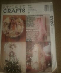 Mccall's Crafts Sewing Pattern 6726 Victorian Lace Christmas Decorations