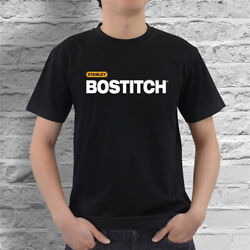 Bostitch Stanley Tools Support Logo Black T-Shirt Size S -2XL