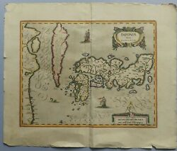 Antique Map Of Japan Iaponia Japon G. Mercator, Oriented To The North