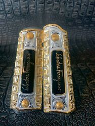 Colt 1911 Grips Cachas Full Size Government Gold Plated Nickel 24k