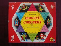 Chinese Checkers Vintage Board Game 1955 Transogram Games Complete