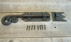 Large Iron Latch And Bolt Sliding Door Lock Barn Cabinet Drawer Hand Forged Bolt