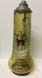 Large Green Blown Glass Wine Pitcher With Pewter Liddeer In Forestgermanywn39