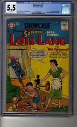 Showcase 1956 9 - Cgc 5.5 White Pages - First Lois Lane Tryout Issue